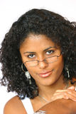 Looking over my glasses Royalty Free Stock Image
