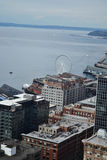 Looking over Puget Sound from Smith Tower observation deck, Seattle, Washington Royalty Free Stock Image