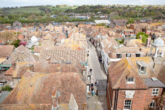 Looking over the rooftops of the historictown of Rye in East Sussex, England Royalty Free Stock Photos