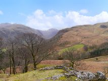 Looking over Seathwaite way to Great End, Lake District Stock Photo