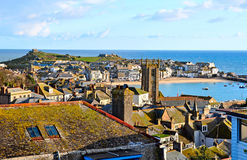 St Ives harbour and town in Cornwall UK Royalty Free Stock Photography