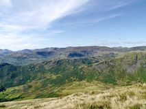 Looking over Steel fell, Helm Crag ridge and more Stock Image