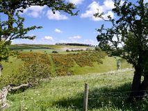 Looking over Sylvan Dale, Yorkshire Royalty Free Stock Image