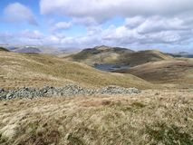 Looking over to Angle Tarn, Lake District Stock Images