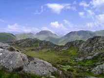 Looking over to Great Gable, Lake District Stock Images