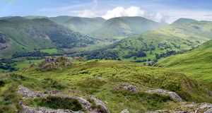 Looking over to Hartsop, Lake District Royalty Free Stock Photos