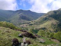 Looking over to the Langstrath Valley, Lake District Stock Images