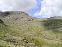 Looking over to Nethermost Pike east ridge, Lake District Stock Photos