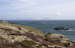 Looking over to Rhoscolyn Stock Image