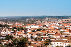 Looking over typical houses in Montemor Royalty Free Stock Photo