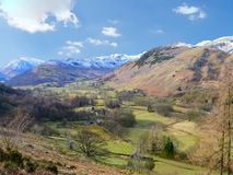 Looking over valley to Deepdale, Lake District Stock Images