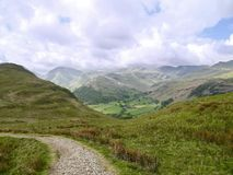 Looking over valley to Hartsop Above How, Lake District Royalty Free Stock Photo