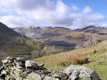 Looking over wall to Brothers Water, Lake District Stock Photos