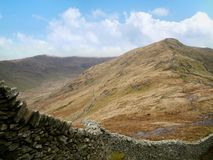 Looking over wall to High Pike, Lake District Royalty Free Stock Photos