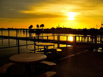 Looking over the Water. Looking over the inlet of water from the Gulf of Mexico Royalty Free Stock Photo