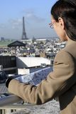 Looking at Paris Stock Photo