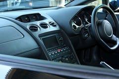 Looking in passenger side car window. Looking in passenger car window at dashboard royalty free stock photos