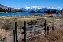 Looking Past The Gate To The Mountains Stock Images