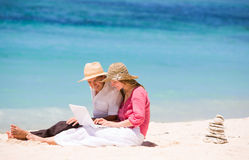 Looking for perfect vacation Royalty Free Stock Images