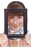 Looking through picture frame Stock Image