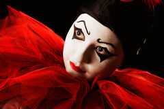 Looking Pierrot Stock Photography