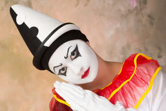 Looking pierrot Stock Images