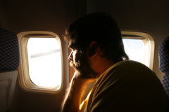 Looking through the plane window Stock Photography