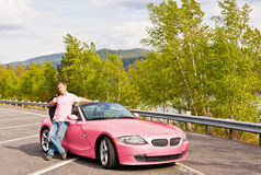 Looking pretty in pink Stock Photo