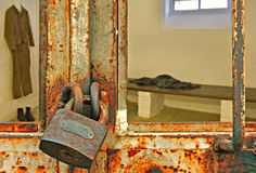 Looking into prison cell Stock Image