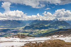 Looking into the Pustertal valley Stock Photography
