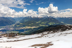 Looking into the Pustertal valley Royalty Free Stock Image