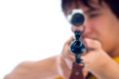 Looking Through A Rifle Scope Stock Photography