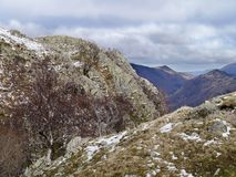 Looking from Rosthwaite Fell, Lake District Stock Photos
