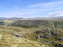 Looking from Rosthwaite Fell to Watendlath direction Royalty Free Stock Images