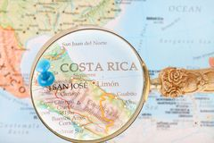 Looking in on San Jose, Costa Rica Royalty Free Stock Photo