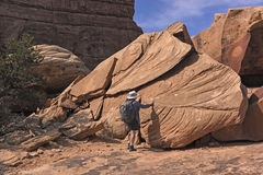 Looking at Sandstone Patterns Stock Image