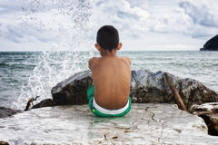 Looking at the sea Royalty Free Stock Images