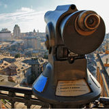 Looking and searching cocnept with italian city Royalty Free Stock Photography