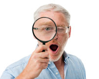 Looking searching man Royalty Free Stock Photos