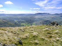 Looking from Seat Sandal, Lake District Royalty Free Stock Photos