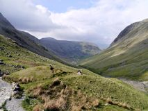 Looking into the Seathwaite valley Royalty Free Stock Photography