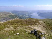 Looking from Sheffield Pike to Ullswater, Lake District Stock Image