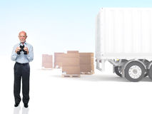 Looking for shipment Stock Image