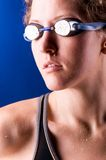 Looking sideways woman swimmer Royalty Free Stock Photos