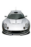 Looking at a silver sportscar Royalty Free Stock Images