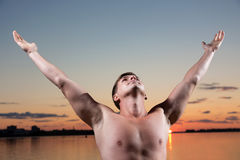 Looking in the sky Royalty Free Stock Photography