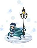 Looking at snow Royalty Free Stock Photo