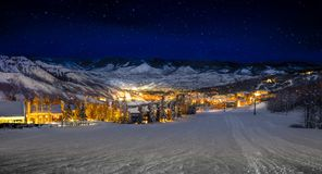 Snowmass Village. Looking at Snowmass ski resort from u the slope Stock Photography