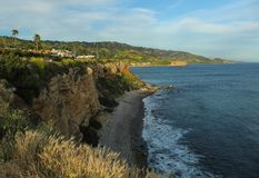 Looking South from the Bluff Trail on the Palos Verdes Peninsula, Los Angeles, California. View looking south from the Bluff Trail on the Palos Verdes peninsula royalty free stock image