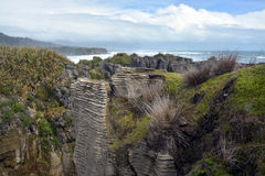 Looking South From Punakaiki Rocks towards Greymouth, New Zealan Stock Images